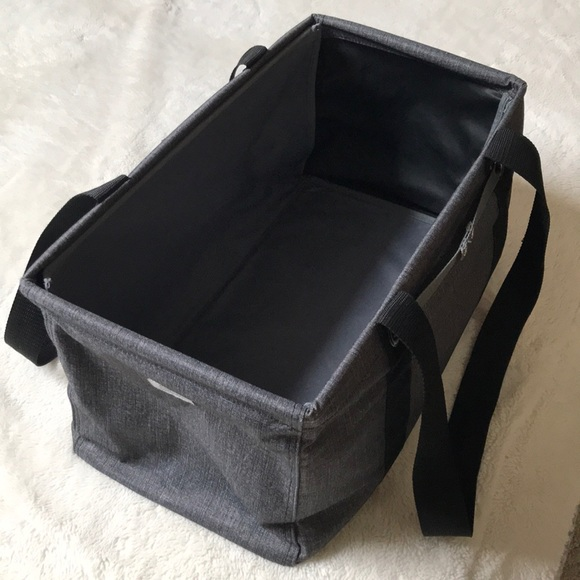 New Thirty One MEDIUM UTILITY tote Bag 31 gift in Charcoal Crosshatch